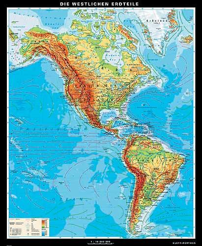 Amerika Karte Oder Landkarte Amerika