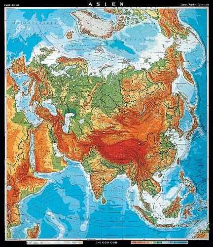 Landkarte Asien.Asien Karte Oder Landkarte Asien