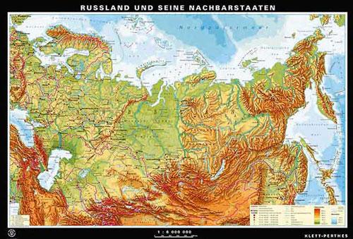 Russland Karte Oder Landkarte Russland