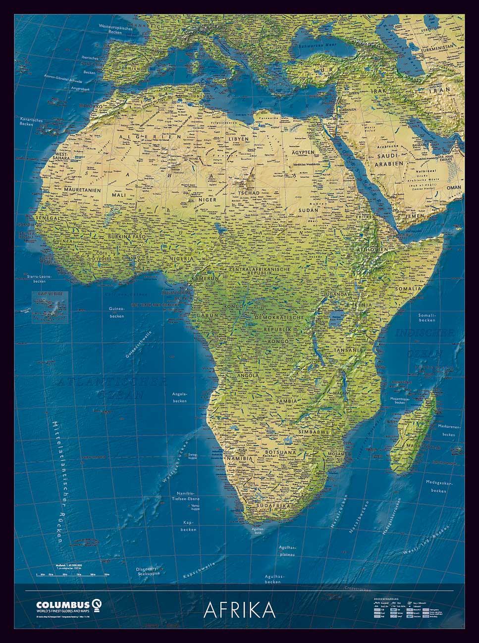 Afrika Karte Deutsch.Afrika Karte Oder Landkarte Afrika