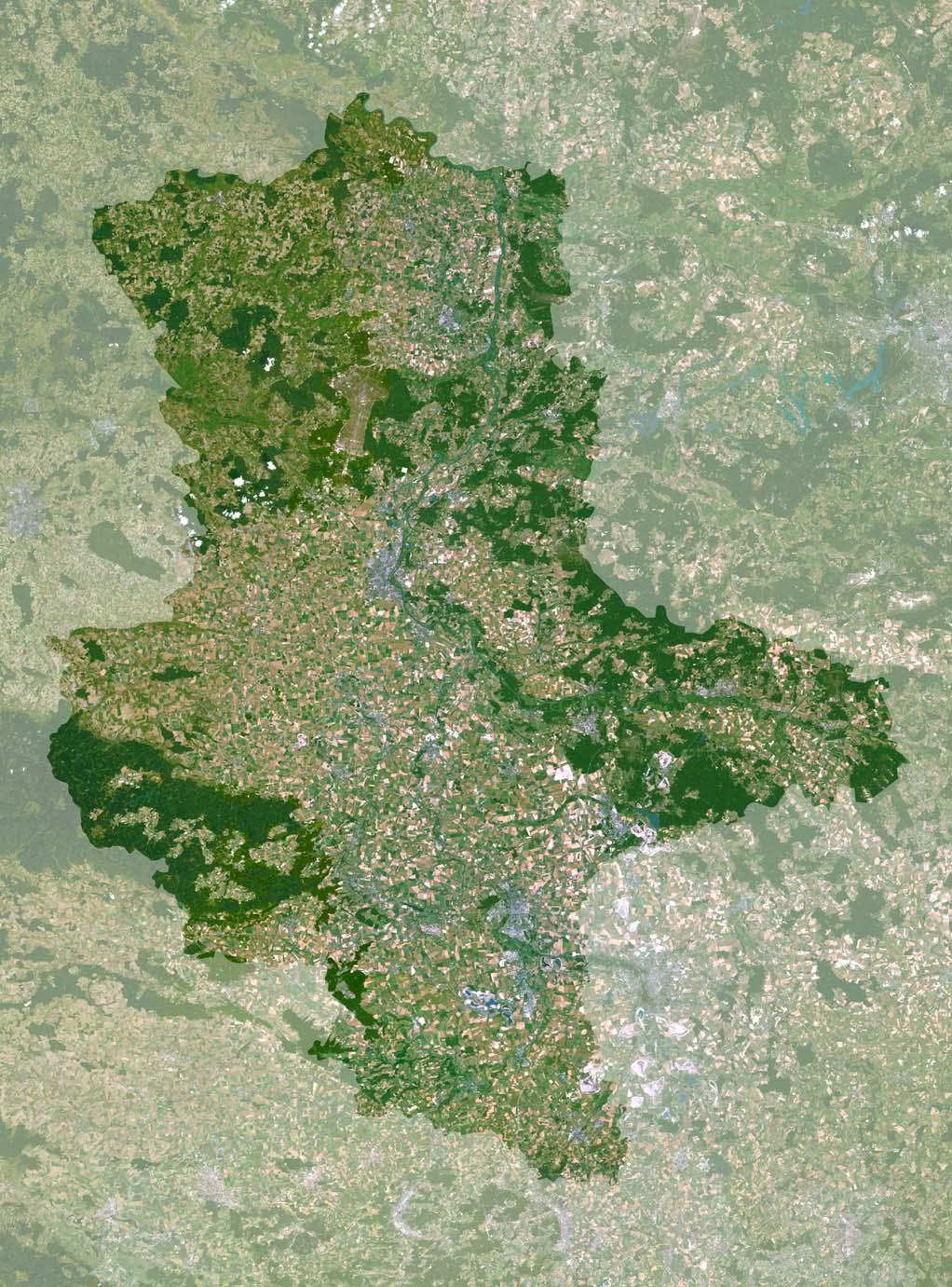 Karte Sachsen Anhalt Mit Flüssen.Sachsen Anhalt Karte Oder Landkarte Sachsen Anhalt