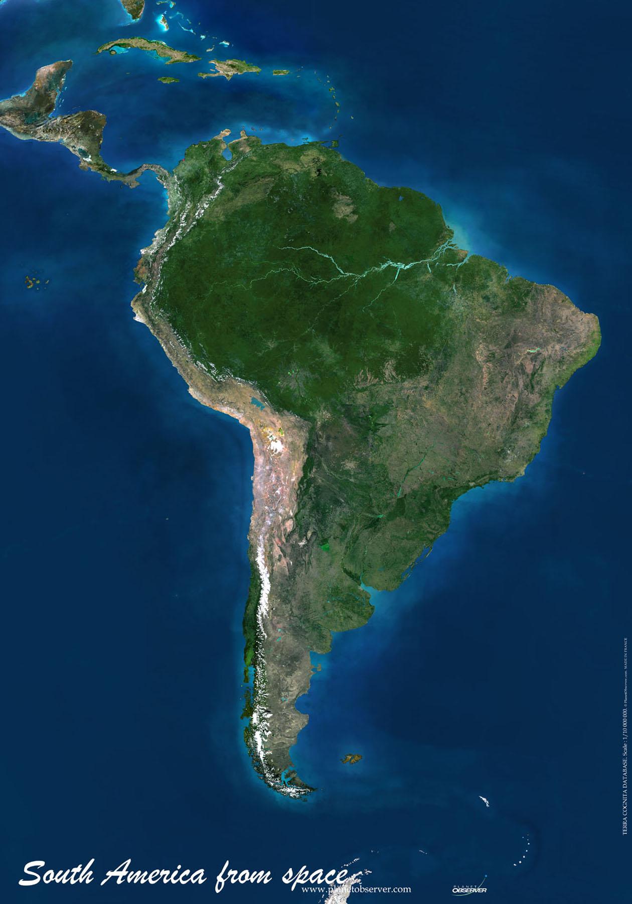 Satellitenbilder Südamerika